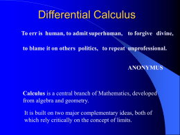 differential calculus - EngineeringDuniya.com