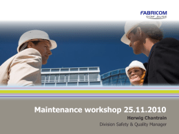 maintenance - European Agency for Safety and Health at Work