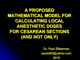 a proposed mathematical model for calculating local anesthetic doses