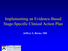 Implementing an Evidence-Based Stage