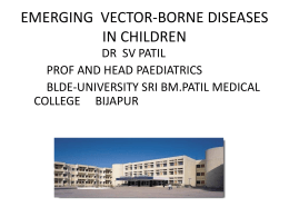Vector borne diseases in children