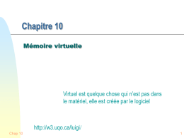 Chap10-1 - Mémoire virtuelle