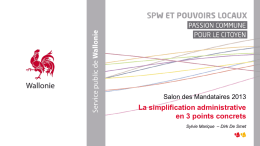La simplification administrative en 3 points