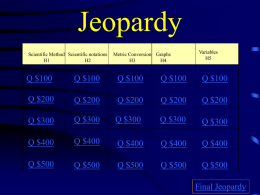 Jeopardy - Lamar County School District