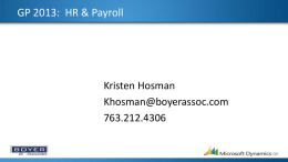 GP 2013 HR & Payroll