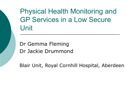 Physical Health Monitoring and GP Services in a