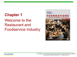 Chapter 1 | Welcome to the Restaurant and Foodservice Industry
