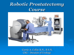 Robotic Prostatectomy Course - Hartford HealthCare Medical Group