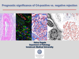 Prognostic significance of C4-positive vs. negative rejection