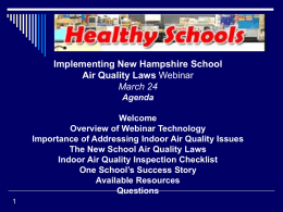 Implementing NH School Air Quality Laws Webinar Power Point