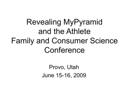 Revealing MyPyramid and the Athlete