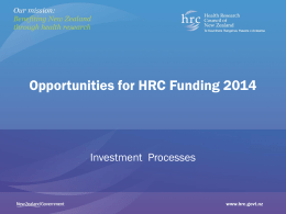 HRC 2014 funding roadshow PowerPoint presentation (PPT 5.22mb)