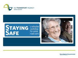 Presentation slides for promoting Staying Safe