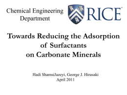 Surfactant Adsorption Reduction