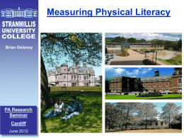 STRANMILLIS - Physical Activity and Nutrition Networks Wales