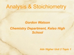 Stoichiometry PPT - Chemistry Teaching Resources