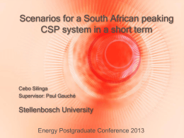 Silinga_Cebo - Energy Postgraduate Conference