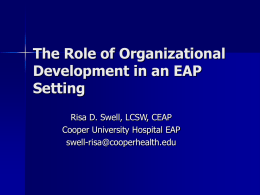 The Role of Organizational Development in an EAP Setting