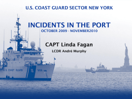 USCG SECTOR NEW YORK INCIDENT MANAGEMENT DIVISION