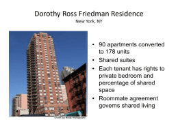 Dorothy Ross Friedman Residence New York, NY