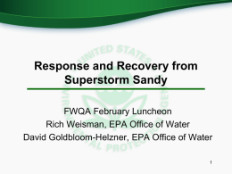 a presentation on the hurricane response