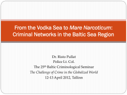 criminal networks in the baltic sea region
