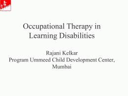 Occupational therapy in LD TLDF 10