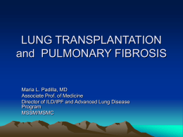 Lung Transplantation - Coalition for Pulmonary Fibrosis