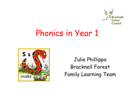 Phonics in Year 1 - Warfield Church of England Primary School