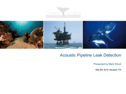 on Pipeline Leak Detection Using The icListen