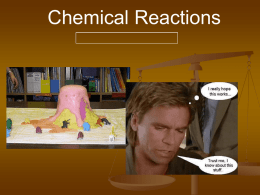 Types of reactions power point for Chapter 9 section 2