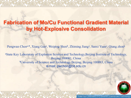 Fabrication of Mo/Cu Functional Gradient Material by Hot