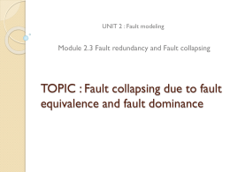 TOPIC : Fault collapsing with fault equivalence and