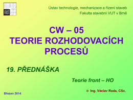 cw05 - předn - teorie front a HO