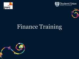 Treasurer Training Slides - University of Nottingham Students` Union