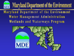H-HMarch2013 - Maryland Department of the Environment