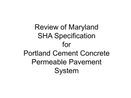 md sha pervious concrete specifications