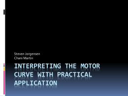 Interpreting the Motor Curve with Practical Application
