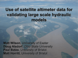 Two-Dimensional Hydrodynamic Flood Modeling by Matt Wilson
