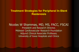 Treatment Options for Peripheral In-stent restenosis