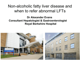 Non Alcoholic Fatty Liver Disease Presentation
