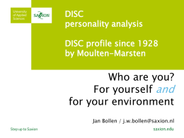 DISC personality analysis