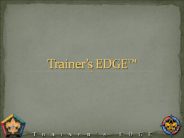 Trainer`s EDGE - 2015 Twin Arrows Courses