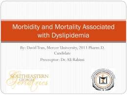 Morbidity and Mortality Associated with Hyperlipidemia