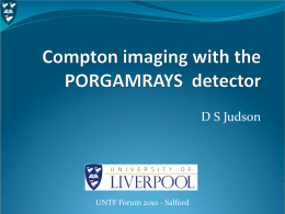 Compton Imaging with the PorGamRays Detector