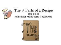 The 5 Parts of a Recipe