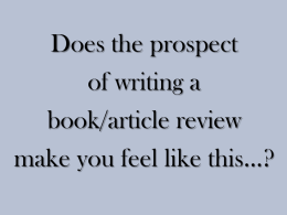 Writing a Book Review presentation