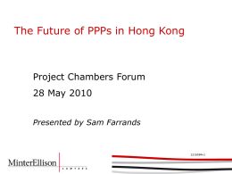 The Future of PPPs in Hong Kong