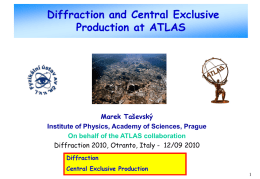 Diffraction and central exclusive production at ATLAS