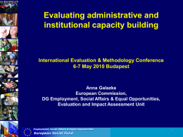 What is administrative capacity?